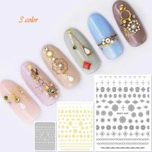 Newest HAXX-49 50 51 3d nail sticker back glue decal stamping Japan type decoration tools