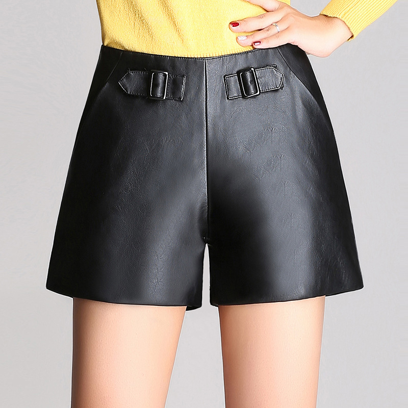 Online Buy Wholesale leather high waisted shorts from China ...