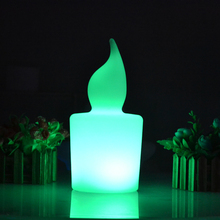Waterproof illuminated Big colorful LED candle light height 28cm 110/220V Rechargeable flash lamp with remote controller