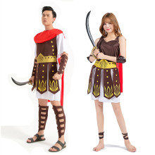 Women Men Ancient Roman Greek Warrior Gladiator Cosplay Costume Adult Knight Julius Caesar Costumes for Couple