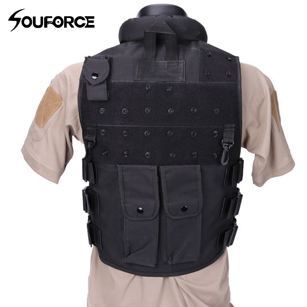 New Black Military Vest Wargame Body Armor Sports Wear Hunting Vest CS Four Seasons Outdoor Products Equipment