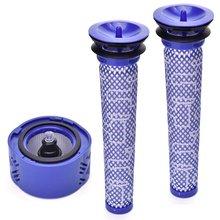 купить 2X Pre Filter + 1X Hepa Post-Filter Kit For Dyson V6 Cordless Stick Vacuum, Dyson Filter Replacements Pre-Filter (965661-01) A по цене 456.05 рублей