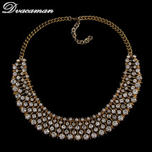 2015 european za brand design necklace fashion crystal pendant statement vintage necklace for women wholesale