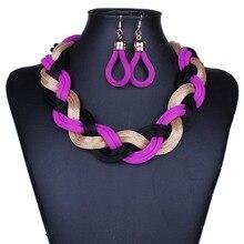 Hot Choker Necklaces Women collar multi layer Chain vintage short twist Necklaces & Pendants bracelet Bijoux Statement