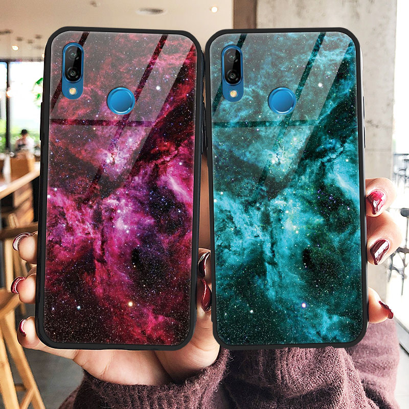 Starry Sky Tempered <font><b>Glass</b></font> <font><b>Cases</b></font> For <font><b>Huawei</b></font> Honor 8X 9 P9 <font><b>P10</b></font> P20 P30 P Smart Mate 10 20 X Plus Pro Lite Nova 2i 3 3i 3e 4 <font><b>Case</b></font> image
