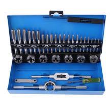 32 шт./компл. M3 M12 метрический кран и набор штампов из легированной стали, прочный метрический кран, набор сверл, ручные инструменты для профессиональной мета