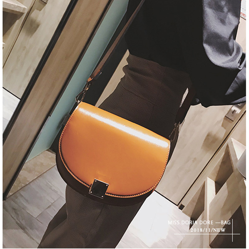 Mododiino Vintage Crossbody Bags For Women 2019 Female Small Saddle Bag Leather Shoulder Bag Luxury Women Bag Designer DNV1057 in Top Handle Bags from Luggage Bags
