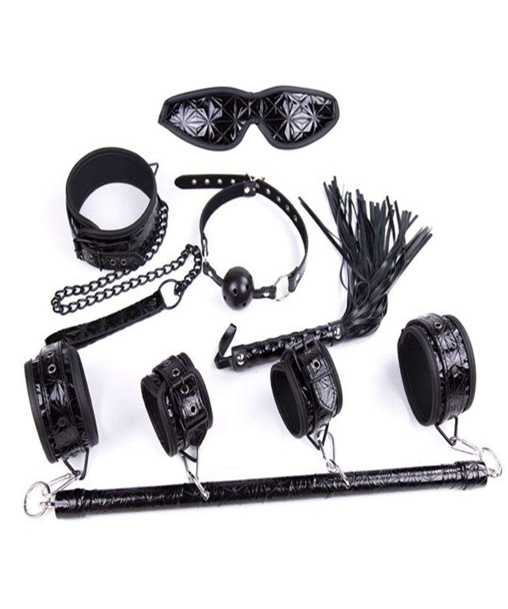 Dog Collar Slave Wrist Ankle Cuffs Eye Mask Whips Flogger Mouth Ball Gag In Adult Games BDSM Bondage Sex Products For Couples adult games 8 in 1 pink bondage kit set neck collar whip ball gag handcuffs rope eye mask fur sex fetish toy