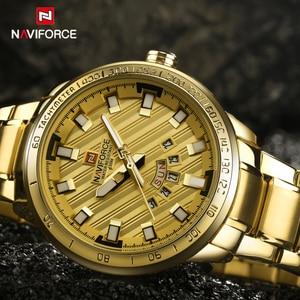 Image 3 - 2017 New Luxury Brand NAVIFORCE Watches Men Sport Full Steel Quartz Watch Man 3ATM Waterproof Clock Mens Military Wrist watches