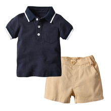 hot deal buy baby boys clothing sets summer baby boys clothes suit gentleman style shirt +pants 2pcs clothes for boys summer set