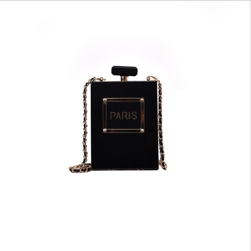 Image 3 - HOT transparent bag women Acrylic Women Casual Black Bottle 