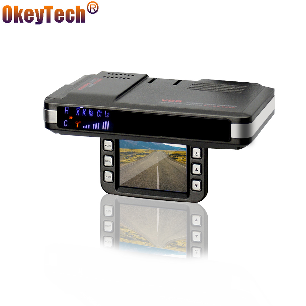 OkeyTech Anti Radar Detectors 2 In 1 Car DVR GPS Camera Logger Dash Cam Radar Detector for Russia Laser 720P G-Sensor Detector купить в Москве 2019