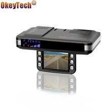 OkeyTech Анти радар-детектор s 2 в 1 Автомобильный dvr gps камера регистратор Dash Cam радар-детектор для России лазер 720 P g-сенсор детектор