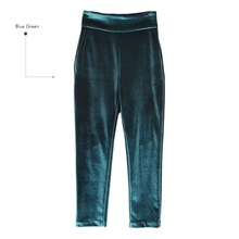 2018 Women Fashion Sexy High Waist Skinny Velour Pants Elegant Slim Velvet Pencil Pants Casual Solid Blue Bodycon Club Trousers