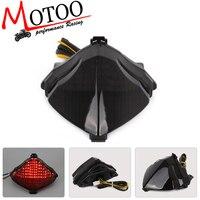 Motoo-darmowa wysyłka Motocykl PROWADZIŁ Światło Lampy Tylne Kierunkowskaz Tail Stop Zintegrowany Dla Yamaha YZF-R1 YZF R1 04-06