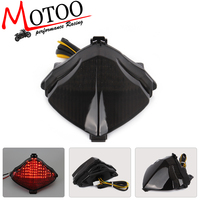 Motoo Free Shipping Motorcycle LED Rear Turn Signal Tail Stop Light Lamps Integrated For Yamaha YZF