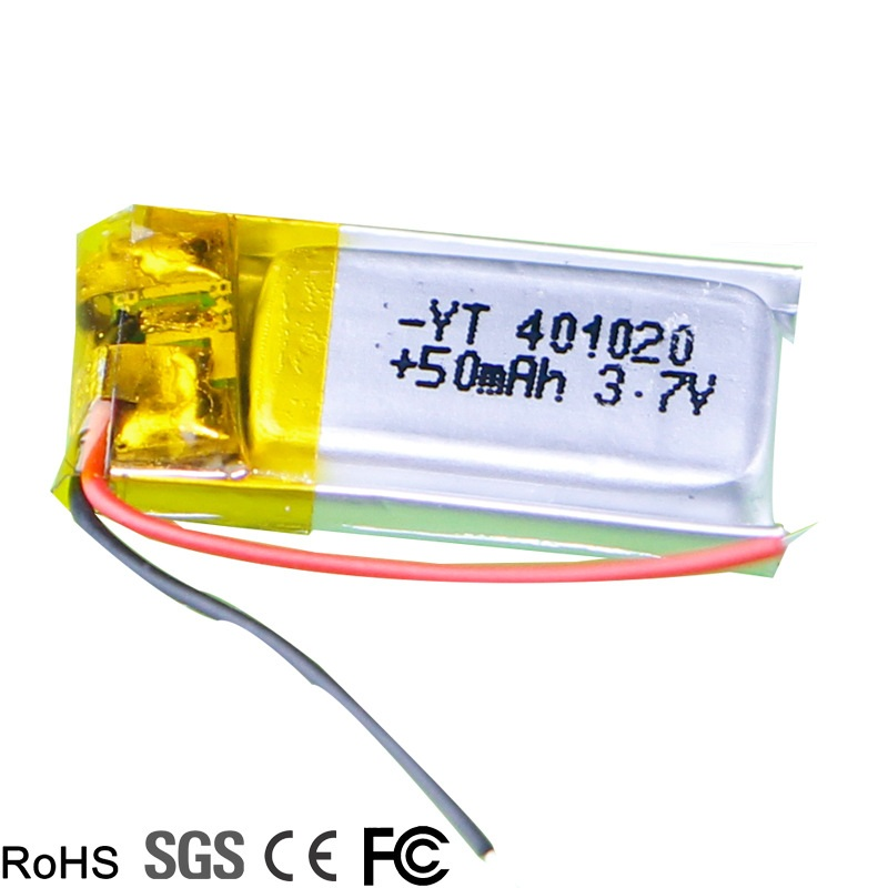 <font><b>3.7v</b></font> <font><b>50mah</b></font> 1S RC Toys Rc Cars Bluetooth speaker Bluetooth headset digital products Lithium polymer <font><b>battery</b></font> <font><b>3.7V</b></font> 401020 image