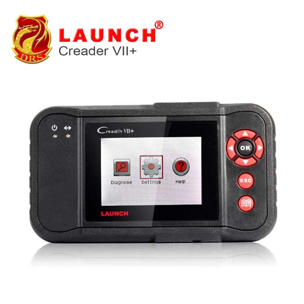 Цена за [ЗАПУСК Дистрибьютор] Запуск X431 Creader VII + 7 Плюс OBDII EOBD электронный Управление Системы ABS SRS Инструмент равных для запуска Creader