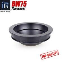 BW75 75mm bowl para tripé Meia Bola Liga de Alumínio Tigela Tripé Adaptador para vídeo tripé cabeça hidráulica