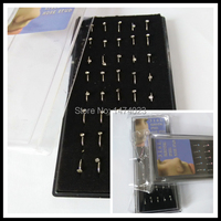 40pcs Surgical Steel Nostril Nose Ring Nose Stud Piercing Jewelry Labret Jewelry Fashion Body Jewelry Fake