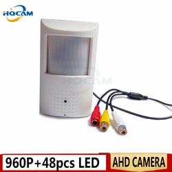 HQCAM 960P Mini kamera AHD kamera noktowizyjna 48 sztuk IR 940nm 3.7mm obiektyw 1.3 megapikselowa PIR kamera na podczerwień CCTV ahd mini kamera AHD|Kamery nadzoru|Bezpieczeństwo i ochrona -