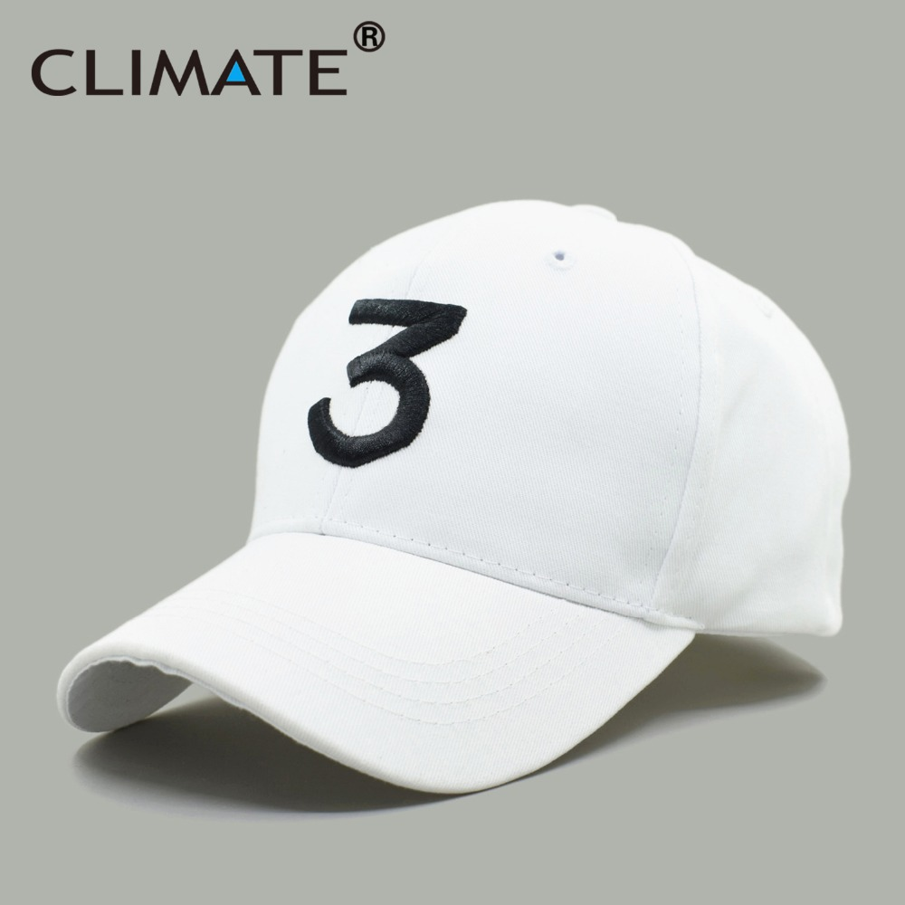 CLIMATE New Popular Chance The Rapper 3 Hat Cap Black 3D Embroidery  Baseball Cap Hip Hop e59276c48da8
