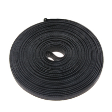 цена на Black 10M Insulation Tight Nylon PET High Density Braided Cable Sleeve Wire Gland Cables Protection