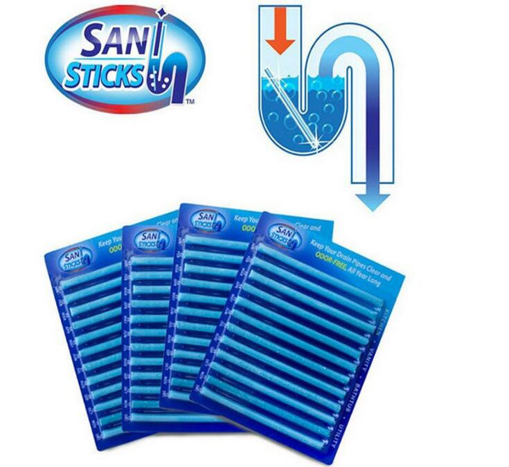 12/set Sani Sticks Oil Decontamination The Kitchen Toilet Bathtub Drain Cleaner Sewer Cleaning Rod Convenient Sewer Hair Clear