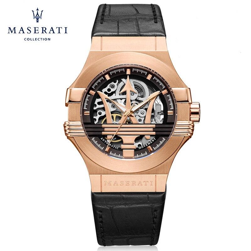 Maserati 2018 Nouveaux Bracelets De Mode Ronde Boucle Automatique Mécanique Montres Rose Montres Étanches R8821108002
