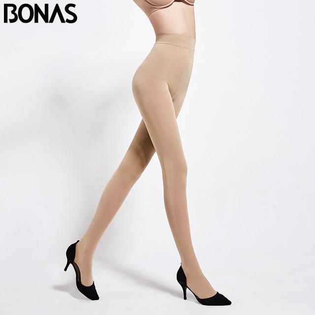 BONAS 200D Tights Autumn Sexy Velvet Seamless Pantyhose Women Warm Elasticity Spandex Black Resistant 100KG Female Stockings 3