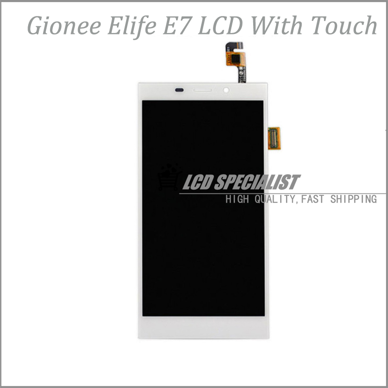 In Stock 5.5 Inch Black LCD Screen Display+Touch Digitizer For Gionee Elife E7 Full Assembly Repartment