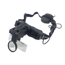LED  Illuminated Magnifier 5 Lens/Set Helmet  Magnifying Glass Dual Lens Repair Watch Loupe 9892E