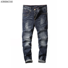 AIRGRACIAS, эластичные, лидер продаж, прямые брюки, брюки, хлопок, хорошее качество, джинсы, мужские,, Осенние, мужские джинсы, Прямая поставка