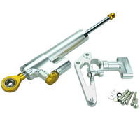 FXCNC Aluminum Motorcycles Steering Stabilize Damper Bracket Mount Kit For HONDA CB600F HORNET 2007 2016 08