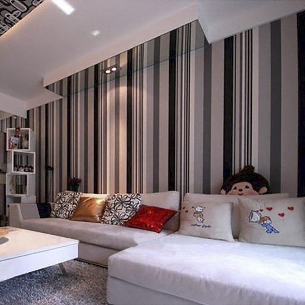 Hanmero 2017 Neue Vertraglich Streifen Design Moderne Tapete Stil Schwarz  Und Weiß Wand Papier Wohnzimmer Hotel Zimmer QZ0032 In Hanmero 2017 Neue ...