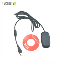 For xbox360 New Black PC USB Gaming Receiver For Microsoft Xbox 360 Wireless Controller Free Shipping