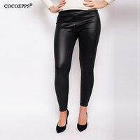 Spring PU Leather Women Pencil Pants Plus Size Leggings Large Size Female Pants Big Szie High
