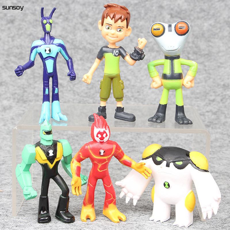 6Pcs/Lot Ben 10 Protector Of Earth PVC Figure Set Toys 7-10CM Ben10 Action Toy Figures Baby Gift For Children Birthday Present lps lps toy bag 20pcs pet shop animals cats kids children action figures pvc lps toy birthday gift 4 5cm