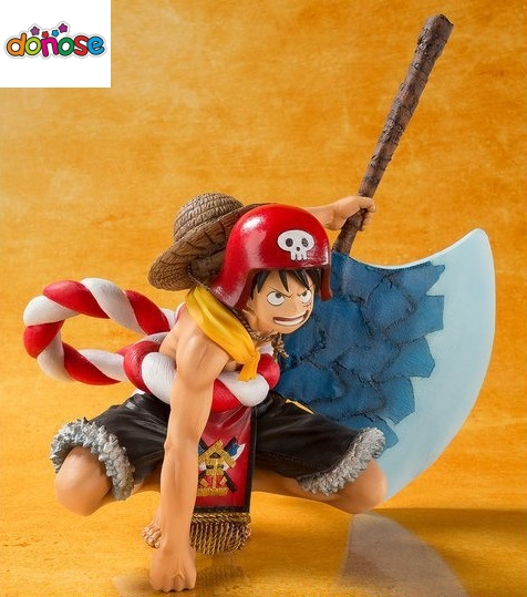 Luffy Doll Pvc Acgn Figure Toys Brinquedos Anime 18cm Collection Here One Piece Film Gold Monkey D Luffy Action Figure Black Clothes Ver Toys & Hobbies