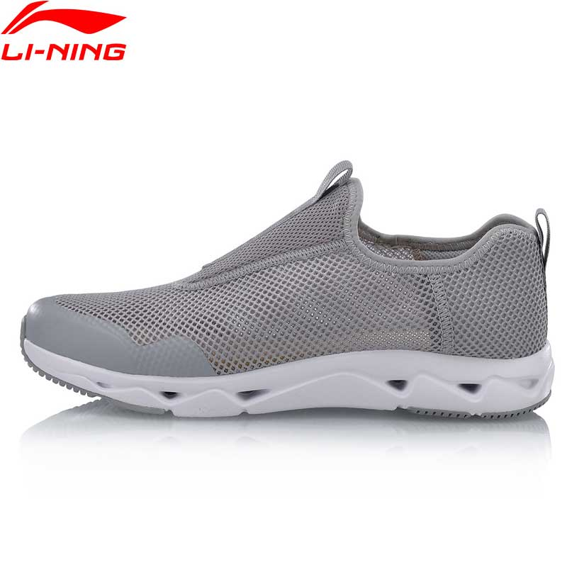 Li-Ning Men Full Breathable Aqua Walking Shoes Slip-On Mesh Light Sneakers LiNing Classic UPSTREAM Sports Jogging Shoes AGCN045 branded men s penny loafes casual men s full grain leather emboss crocodile boat shoes slip on breathable moccasin driving shoes