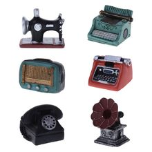 Photography Props Baby Photo Shot Studio Vintage Retro Machine Phonograph Radio Telephone Antique Creative Mini Decoration Ornam