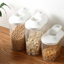 1000 мл/1500 мл пластиковый диспенсер для зерновых культур для шкафчика коробка для кухни пищевой для зёрен контейнер для риса с мерной крышкой чашки