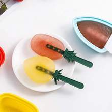 Fruit Ice Cream Mold With Lid lolly Tools Freezer cream bar Homemade Food Grade Silicone Diy
