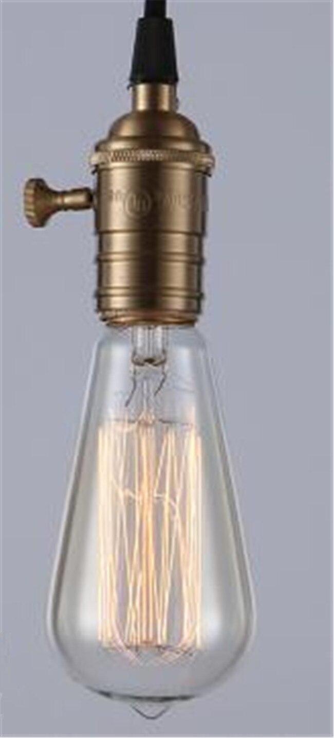 Ретро лампа E27 винтажные нить накаливания Light 220 В лампа накаливания G95 ST64 ST30 лампы для домашнего декора Bombillas наружного освещения - Цвет: Зеленый