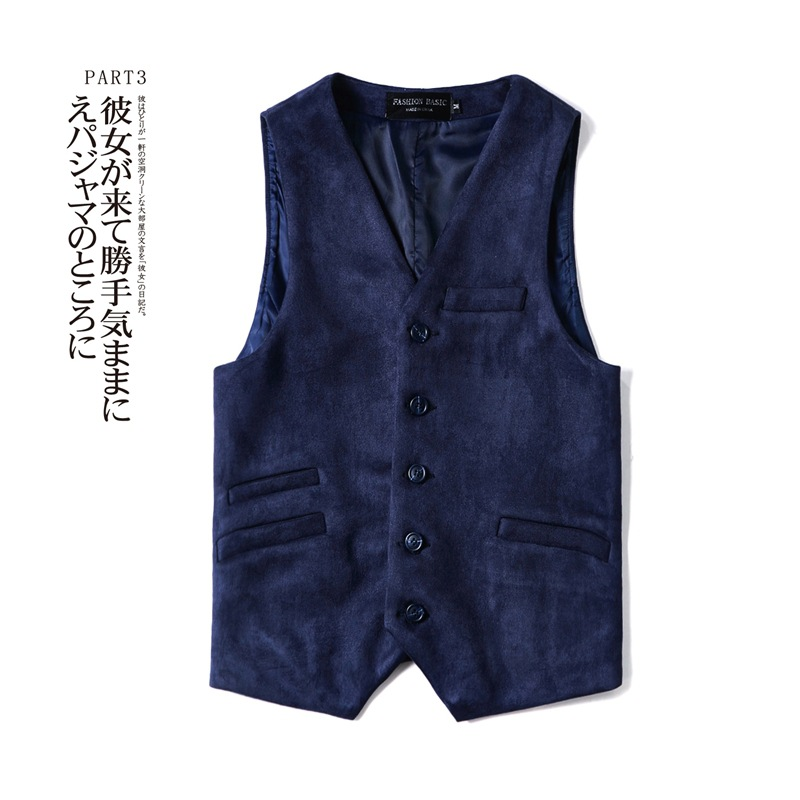Upscale New Spring, Autumn And Winter Suede Coffee Dark Blue Waistcoat Mens Vest British Style Vests Tweed Waistcoat Men's Gift