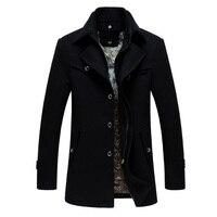 Uomini Giacca invernale Ispessimento Cappotto di Lana Slim Fit Giacche Tuta Sportiva di Modo Caldo Uomo Giacca Casual Cappotto 180cy