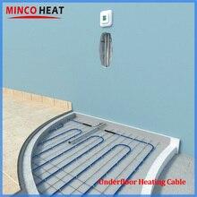 Twin Dirigent Onder Tegel Laminaat Vloerverwarming Systeem Vloerverwarming Kabel 20 W/m Snel Verwarming