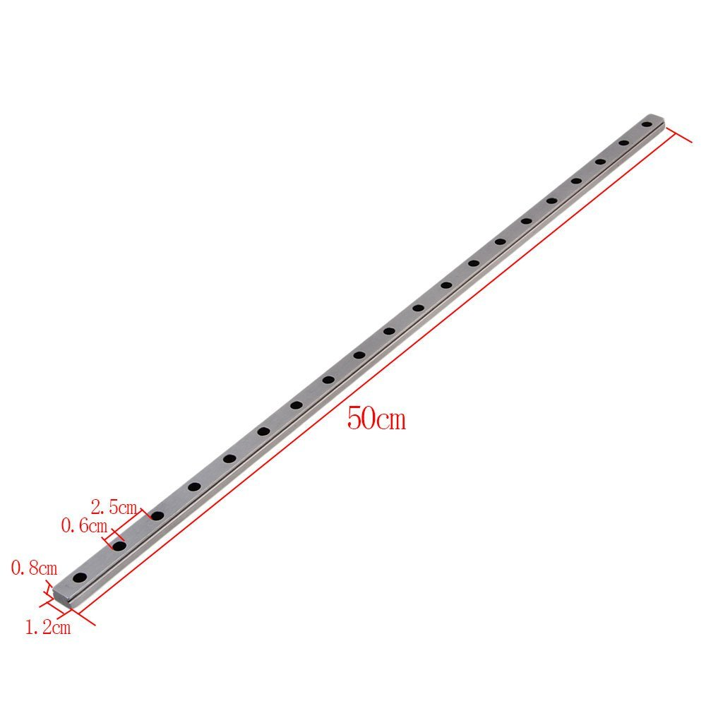 MGN12 500mm Length Bearing Steel Linear Sliding Guideway Rail Silver toothed belt drive motorized stepper motor precision guide rail manufacturer guideway