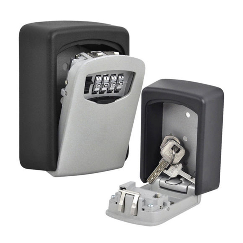 4 Digit Password Combination Key Safe Security Storage Box Lock Case Wall Mount Lock