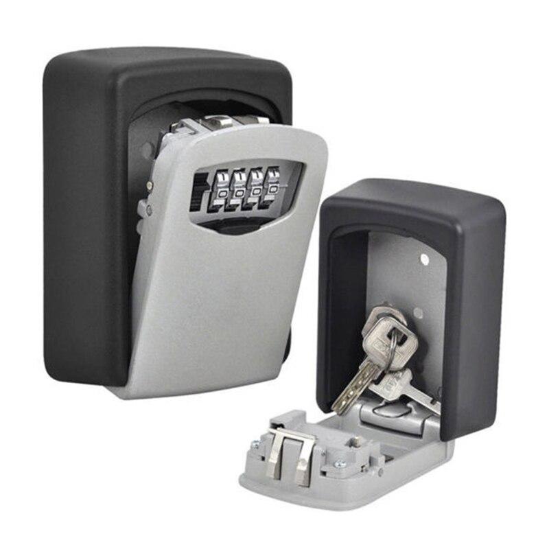 4 Digit Password Combination Key Safe Security Storage Box Lock Case Wall Mount Lock